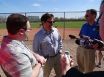 Brewers principal owner Mark Attanasio meets the media