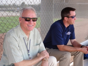 Superscout Marv Thompson and director of psychological services Matt Krug