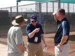 Scouting gurus Marv Thompson, Leon Wurth and Tom Flanagan