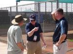 Scouting gurus Marv Thompson, Leon Wurth and Tom Flanagan
