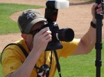 Brewers photog Scott Paulus at work